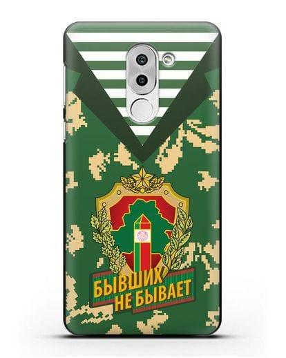 Чехол Камуфляж, тельняшка с гербом Пограничных войск РБ силикон черный для Honor 6X