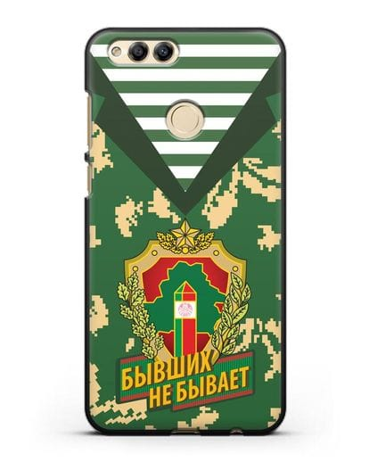 Чехол Камуфляж, тельняшка с гербом Пограничных войск РБ силикон черный для Honor 7X