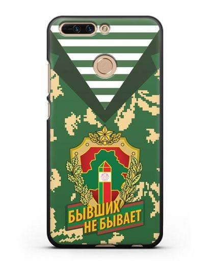 Чехол Камуфляж, тельняшка с гербом Пограничных войск РБ силикон черный для Honor 8 Pro