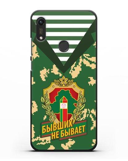 Чехол Камуфляж, тельняшка с гербом Пограничных войск РБ силикон черный для Honor 8A Prime