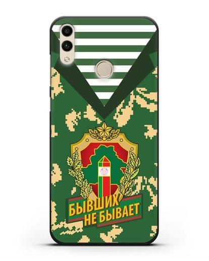 Чехол Камуфляж, тельняшка с гербом Пограничных войск РБ силикон черный для Honor 8C