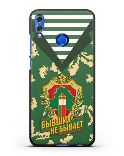 Чехол Камуфляж, тельняшка с гербом Пограничных войск РБ силикон черный для Honor 8X
