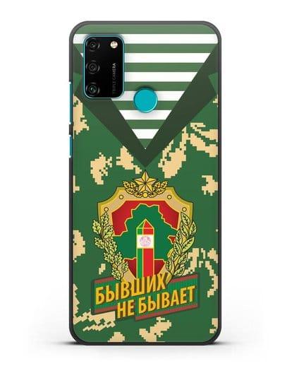 Чехол Камуфляж, тельняшка с гербом Пограничных войск РБ силикон черный для Honor 9A