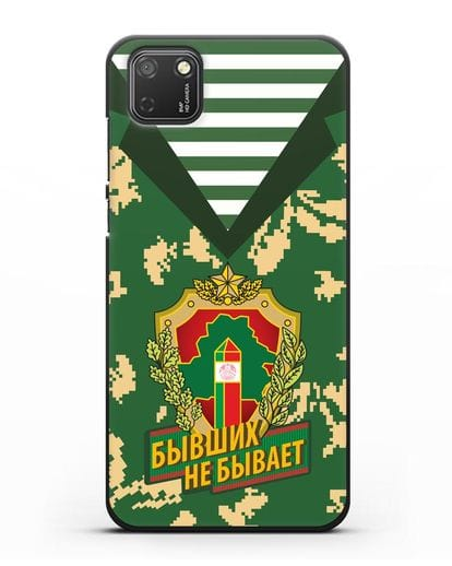Чехол Камуфляж, тельняшка с гербом Пограничных войск РБ силикон черный для Honor 9S