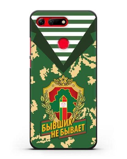 Чехол Камуфляж, тельняшка с гербом Пограничных войск РБ силикон черный для Honor View 20