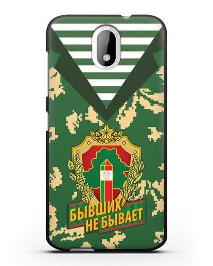 Чехол Камуфляж, тельняшка с гербом Пограничных войск РБ силикон черный для HTC Desire 526