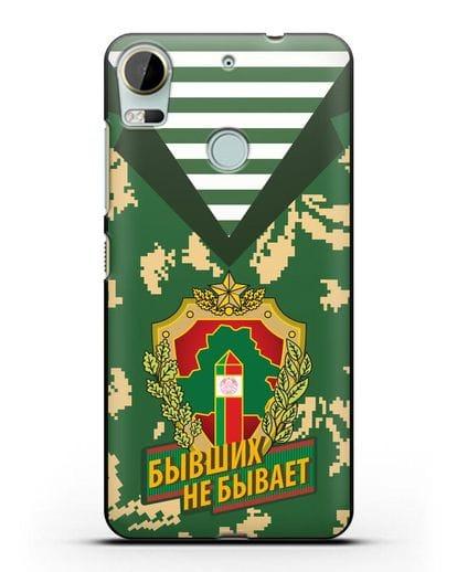 Чехол Камуфляж, тельняшка с гербом Пограничных войск РБ силикон черный для HTC Desire 10 Pro