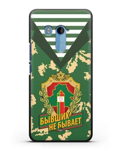 Чехол Камуфляж, тельняшка с гербом Пограничных войск РБ силикон черный для HTC U11 Plus
