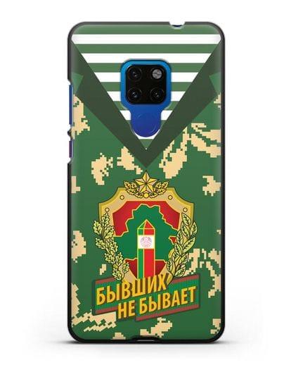 Чехол Камуфляж, тельняшка с гербом Пограничных войск РБ силикон черный для Huawei Mate 20