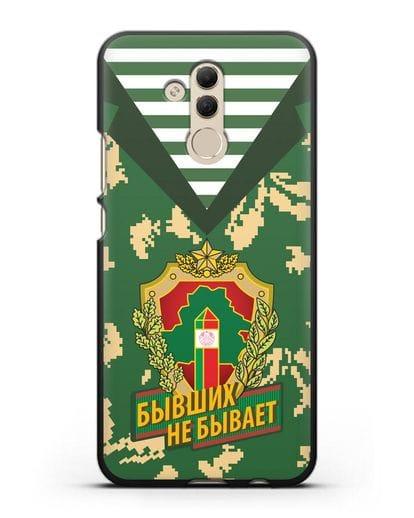 Чехол Камуфляж, тельняшка с гербом Пограничных войск РБ силикон черный для Huawei Mate 20 Lite