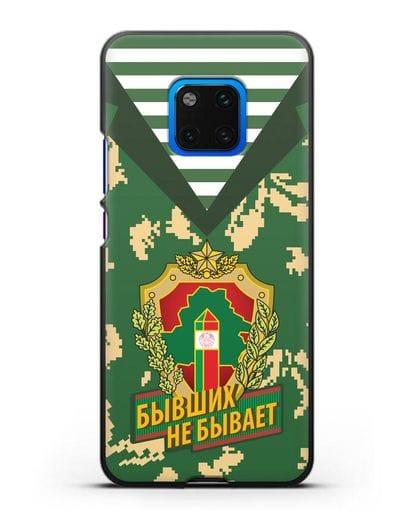Чехол Камуфляж, тельняшка с гербом Пограничных войск РБ силикон черный для Huawei Mate 20 Pro