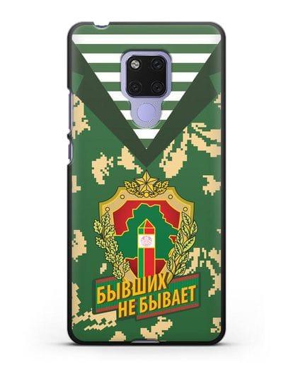 Чехол Камуфляж, тельняшка с гербом Пограничных войск РБ силикон черный для Huawei Mate 20X