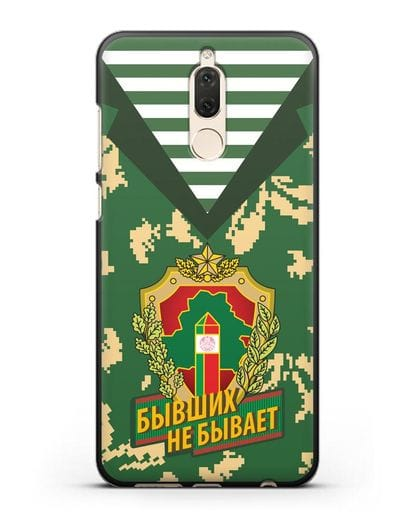 Чехол Камуфляж, тельняшка с гербом Пограничных войск РБ силикон черный для Huawei Nova 2
