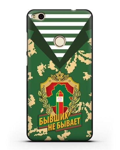 Чехол Камуфляж, тельняшка с гербом Пограничных войск РБ силикон черный для Huawei P8 Lite 2017