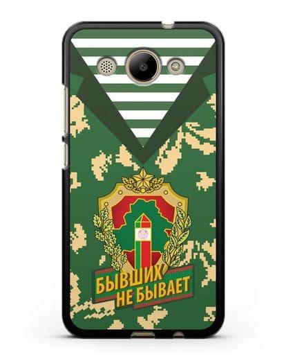 Чехол Камуфляж, тельняшка с гербом Пограничных войск РБ силикон черный для Huawei Y3 2017
