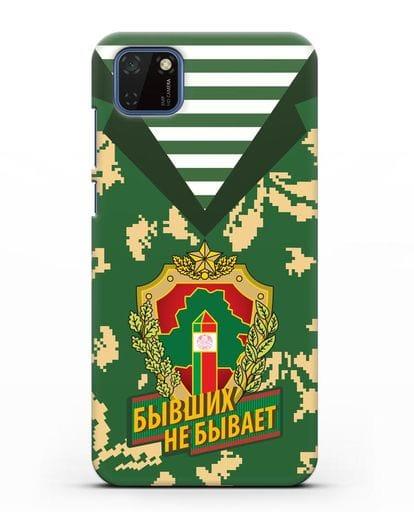 Чехол Камуфляж, тельняшка с гербом Пограничных войск РБ силикон черный для Huawei Y5P