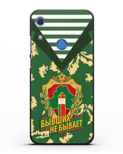 Чехол Камуфляж, тельняшка с гербом Пограничных войск РБ силикон черный для Huawei Y6s