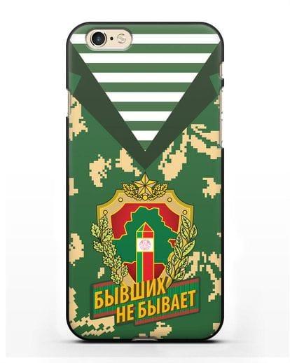 Чехол Камуфляж, тельняшка с гербом Пограничных войск РБ силикон черный для iPhone 6s