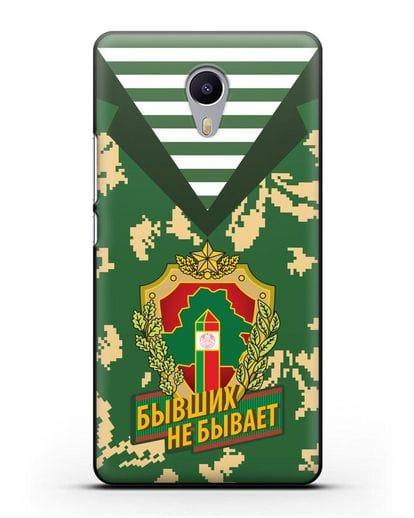 Чехол Камуфляж, тельняшка с гербом Пограничных войск РБ силикон черный для MEIZU M3 Note