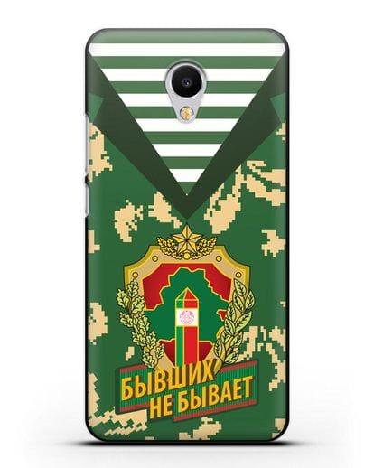 Чехол Камуфляж, тельняшка с гербом Пограничных войск РБ силикон черный для MEIZU M3s mini