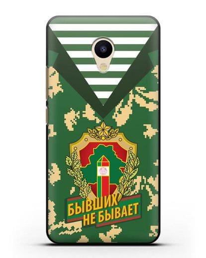 Чехол Камуфляж, тельняшка с гербом Пограничных войск РБ силикон черный для MEIZU M5