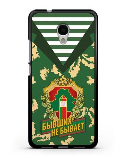 Чехол Камуфляж, тельняшка с гербом Пограничных войск РБ силикон черный для MEIZU M5s