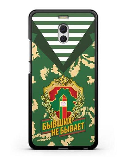 Чехол Камуфляж, тельняшка с гербом Пограничных войск РБ силикон черный для MEIZU M6 Note