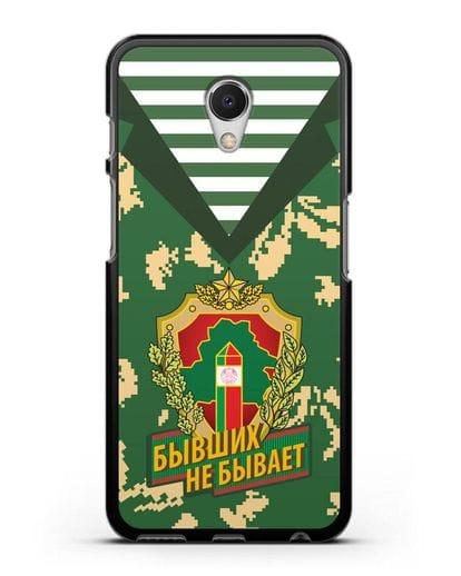 Чехол Камуфляж, тельняшка с гербом Пограничных войск РБ силикон черный для MEIZU M6s
