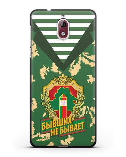 Чехол Камуфляж, тельняшка с гербом Пограничных войск РБ силикон черный для Nokia 3.1