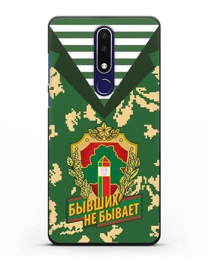 Чехол Камуфляж, тельняшка с гербом Пограничных войск РБ силикон черный для Nokia 3.1 plus