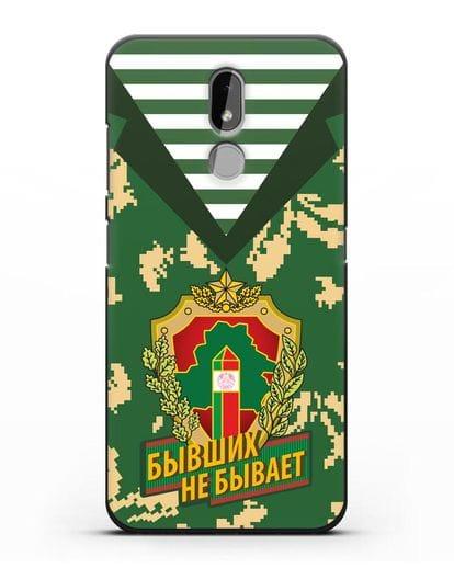 Чехол Камуфляж, тельняшка с гербом Пограничных войск РБ силикон черный для Nokia 3.2 2019