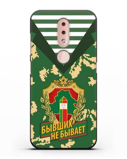 Чехол Камуфляж, тельняшка с гербом Пограничных войск РБ силикон черный для Nokia 4.2 2019