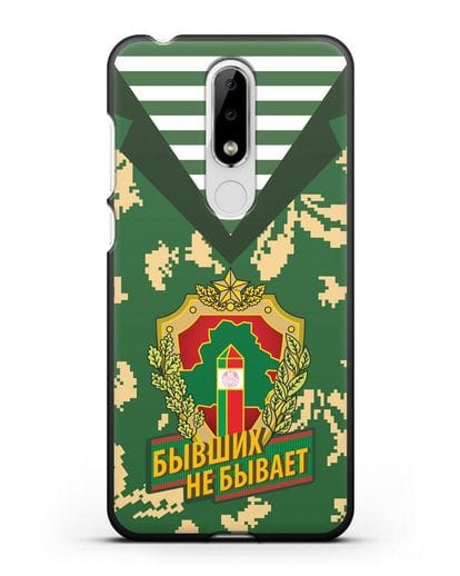 Чехол Камуфляж, тельняшка с гербом Пограничных войск РБ силикон черный для Nokia 5.1 plus