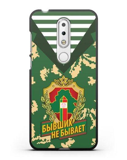 Чехол Камуфляж, тельняшка с гербом Пограничных войск РБ силикон черный для Nokia 6.1 plus