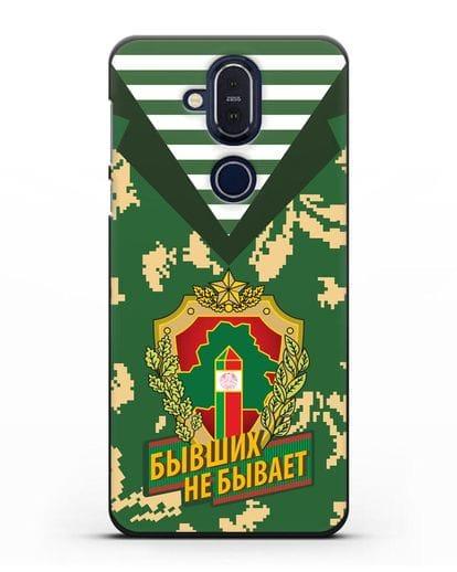 Чехол Камуфляж, тельняшка с гербом Пограничных войск РБ силикон черный для Nokia 7.1 plus