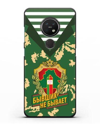 Чехол Камуфляж, тельняшка с гербом Пограничных войск РБ силикон черный для Nokia 7.2