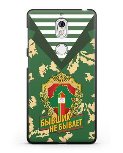 Чехол Камуфляж, тельняшка с гербом Пограничных войск РБ силикон черный для Nokia 7