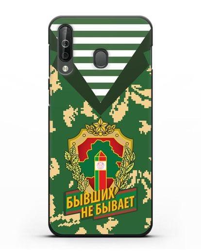 Чехол Камуфляж, тельняшка с гербом Пограничных войск РБ силикон черный для Samsung Galaxy A40s [SM-A507FN]