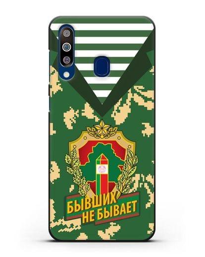 Чехол Камуфляж, тельняшка с гербом Пограничных войск РБ силикон черный для Samsung Galaxy A60 [SM-A606F]