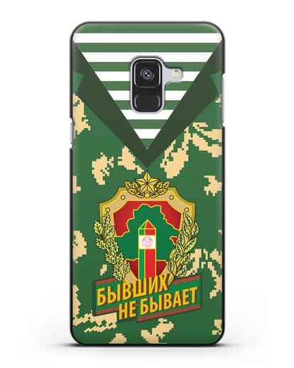 Чехол Камуфляж, тельняшка с гербом Пограничных войск РБ силикон черный для Samsung Galaxy A8 [SM-A530F]