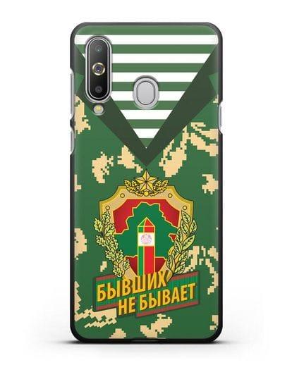Чехол Камуфляж, тельняшка с гербом Пограничных войск РБ силикон черный для Samsung Galaxy A8s [SM-G8870]