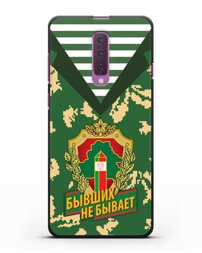 Чехол Камуфляж, тельняшка с гербом Пограничных войск РБ силикон черный для Samsung Galaxy A90 [SM-A908N]