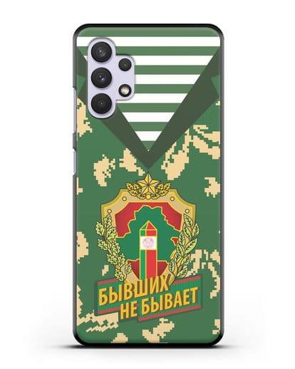 Чехол Камуфляж, тельняшка с гербом Пограничных войск РБ силикон черный для Samsung Galaxy A32 [SM-A325F]