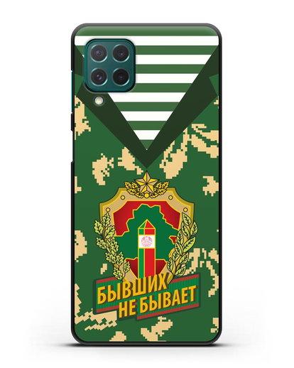 Чехол Камуфляж, тельняшка с гербом Пограничных войск РБ силикон черный для Samsung Galaxy M62 [SM-M625F]