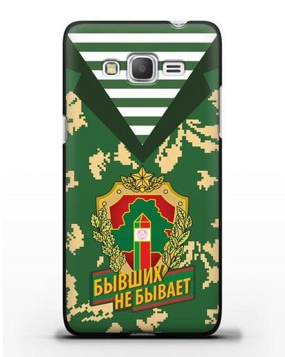 Чехол Камуфляж, тельняшка с гербом Пограничных войск РБ силикон черный для Samsung Galaxy J2 Prime [SM-G532]