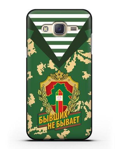 Чехол Камуфляж, тельняшка с гербом Пограничных войск РБ силикон черный для Samsung Galaxy J5 2015 [SM-J500H]