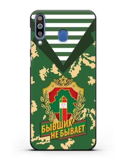 Чехол Камуфляж, тельняшка с гербом Пограничных войск РБ силикон черный для Samsung Galaxy M30 [SM-M305F]