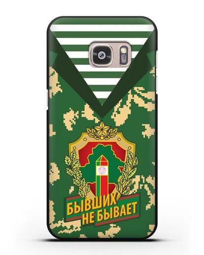 Чехол Камуфляж, тельняшка с гербом Пограничных войск РБ силикон черный для Samsung Galaxy S7 Edge [SM-G935F]