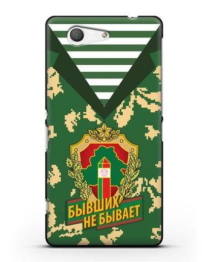 Чехол Камуфляж, тельняшка с гербом Пограничных войск РБ силикон черный для Sony Xperia Z3 Compact