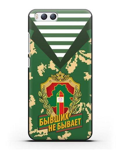 Чехол Камуфляж, тельняшка с гербом Пограничных войск РБ силикон черный для Xiaomi Mi 6